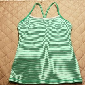 Lululemon striped tank with built in bra size 6